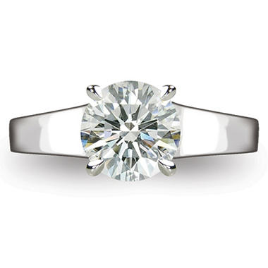 2.05 ct. Round Brilliant-Cut Diamond Solitaire Ring in Platinum (I, VS2)