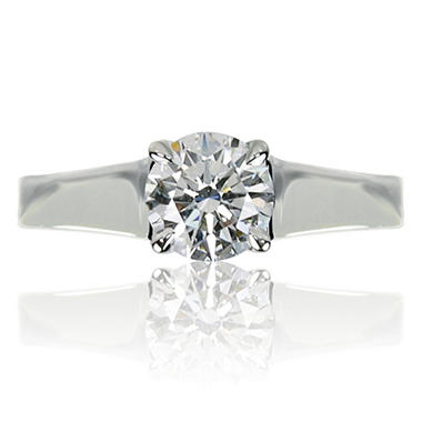 1.01 ct. Round Brilliant-Cut Diamond Solitaire Ring in 14k White Gold (I, VS1)