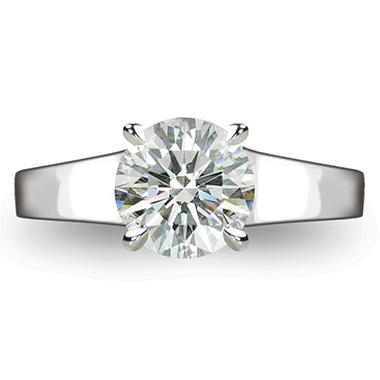 1.60 ct. Round Brilliant-Cut Diamond Solitaire Ring in Platinum (D, SI1)