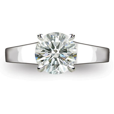 1.62 ct. Round Brilliant-Cut Diamond Solitaire Ring in Platinum  (I, VS1)