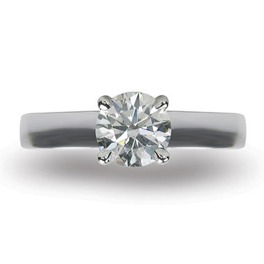 1.20 ct. Round Brilliant-Cut Diamond Solitaire Ring in 18K White Gold (I, VS1)