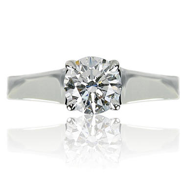 1.03 ct. Round Brilliant-Cut Diamond Solitaire Ring in 14k White Gold (H, VVS2)
