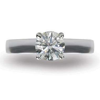 1.51 ct. Round Brilliant-Cut Diamond Solitaire Ring in 18k White Gold (I, VS1)