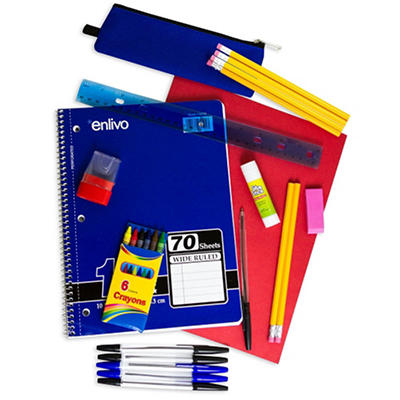 Enlivo 10 Piece School Supply Kit (24 Kits)
