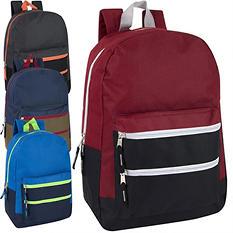 "Trailmaker 17"" Backpack, Assorted Colors  (24 Packs)"