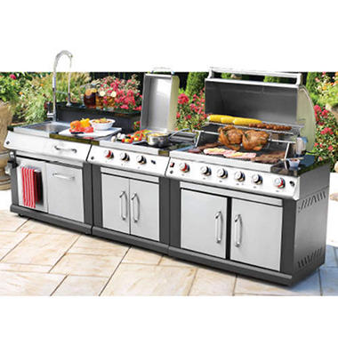 3-in-1 Outdoor Modular Grill - Propane
