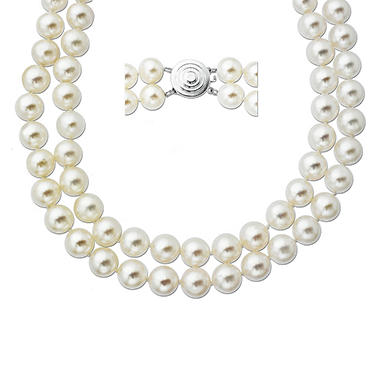 8mm Freshwater Pearl Double Strand Necklace