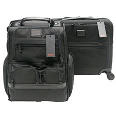Tumi Alpha 2 Laptop Briefcase and Four Wheeled Compact Brief Bundle