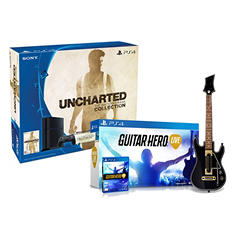 PS4 500GB Uncharted: The Nathan Drake Collection Console Bundle with Guitar Hero Live