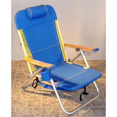 Beach Chair - Teal & White