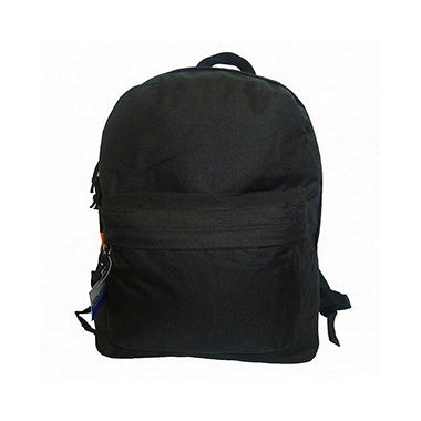 "Bazic 18"" Backpacks - Black - 36 pk."