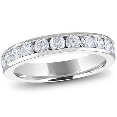 1.00 ct. t.w. Channel-Set Round Diamond Band in 14K White Gold (H-I, I1)