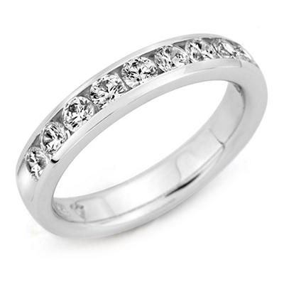 0.50 ct. t.w. Channel-Set Round Diamond Band in 14K White Gold (H-I, I1)