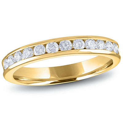 0.50 ct. t.w. Channel-Set Round Diamond Band in 14K Yellow Gold (H-I, I1)