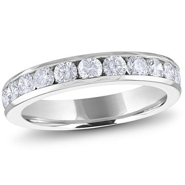 1.00 ct. t.w. Channel-Set Round Diamond Band in Platinum (H-I, I1)