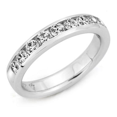 .25 ct. t.w. Channel-Set Round-Cut Diamond Band in 14K White Gold (H-I, I1)