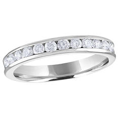 0.50 ct. t.w. Channel-Set Round Diamond Band in Platinum (H-I, I1)