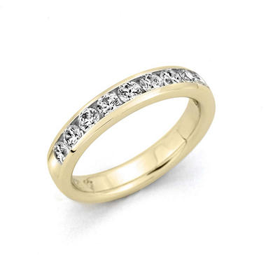 .25 ct. t.w. Channel-Set Round-Cut Diamond Band in 14K Yellow Gold (H-I, I1)