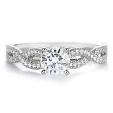Premier Diamond Collection 0.93 CT.T.W. Round Engagement Diamond Ring in 18K White Gold - GIA & IGI (E, SI1)