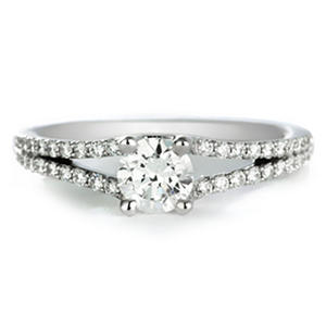 Premier Diamond Collection 0.72 CT. T.W. Round Diamond Engagement Ring in 18K White Gold - GIA & IGI (G, VS2)