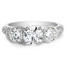 Premier Diamond Collection 2.08 CT. T.W. Three-Stone Diamond Engagement Ring in 18K White Gold - GIA & IGI (I, SI1)