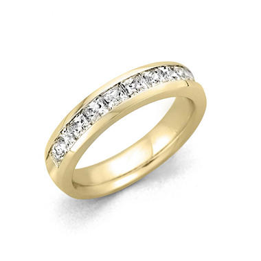 .25 ct. t.w. Channel Set Princess Diamond Band in 14K Yellow Gold (H-I, I1)