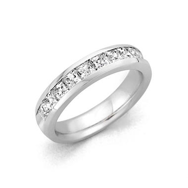 .25 ct. t.w. Channel Set Princess Diamond Band in 14K White Gold (H-I, I1)