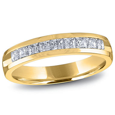 0.50 ct. t.w. Channel Set Princess Diamond Band in 14K Yellow Gold (H-I, I1)