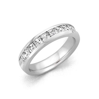 2.00 ct. t.w. Channel-Set Princess Diamond Band in Platinum (H-I, I1)