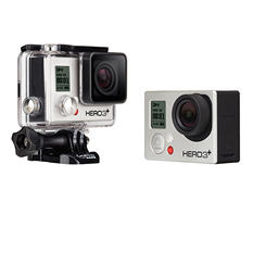 GoPro Full HD Hero3+ Bundle: Silver Edition with Dual Battery Charger and Rechargeable Battery