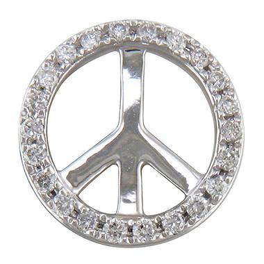 .10 ct. t.w. Diamond Peace Sign Pendant