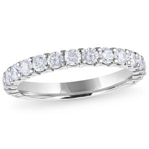 1.00 ct. t.w. 17-Stone Diamond Band in 14K White Gold (H-I, I1)