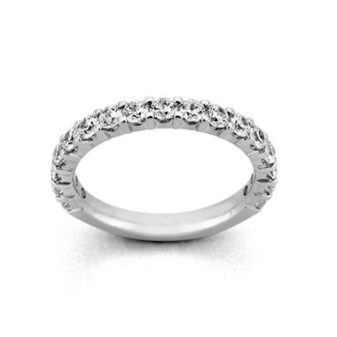 0.50 ct. t.w. 17-Stone Shared-Prong Diamond Band in Platinum (H-I, I1)
