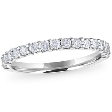 0.50 ct. t.w. 17-Stone Shared-Prong Diamond Band in 14K White Gold (H-I, I1)