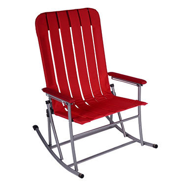 CampSmart® Folding Rocking Chair - Maroon