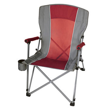 CampSmart® Hard Arm Chair - Maroon and Gray