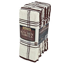 "Kitchen Towels 16"" x 28"" - 12 Pack (Various Colors)"