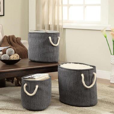 3 Pack Fabric Bin Set