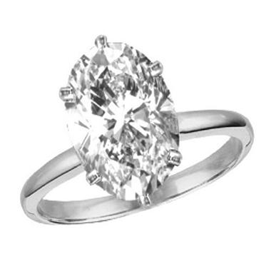 0.40 ct. Oval-Cut Diamond Solitaire Ring (E,VS1)
