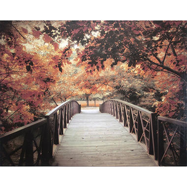 Bridge & Trees Canvas Art