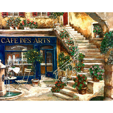 Cafe Des Art Canvas Art