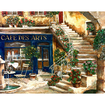 Cafe Des Art Canvas Art