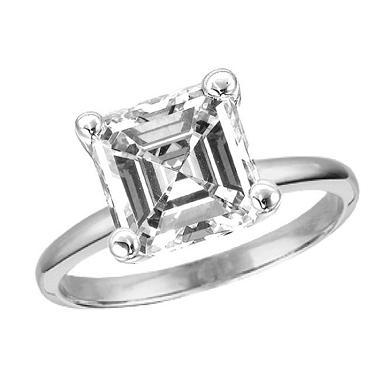 1.09 ct. Asscher-Cut Diamond Solitaire Ring (I, VS1)