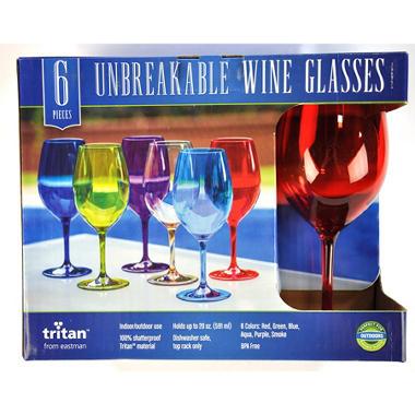 TRITAN WINE GLASSES SET OF 6 COLOR