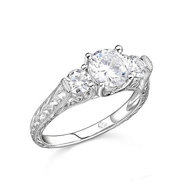 1.25 ct. t.w. Engraved Diamond Ring (H-I, I1)