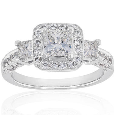 1.55 ct. t.w. Diamond Ring in 14k White Gold (H-I, I1)