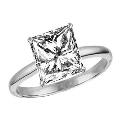 0.92 ct. Princess-Cut Diamond Solitaire Ring (I, VVS2)