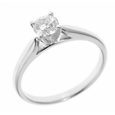 0.47 ct. Round-Cut Diamond Solitaire in 14k White Gold (I, I1)