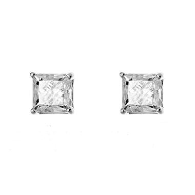 0.96 ct. t.w. Princess-Cut Diamond Stud Earrings in 14k White Gold (H-I, SI2)