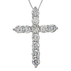 2.00 CT. T.W. Diamond Cross Pendant in 14K White Gold (H-I,I1)